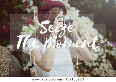 Seize Moments Enjoyment Positive Relaxation Concept