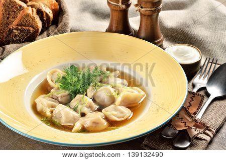Pelmeni. Popular food in Slavic (Ukrainian Russian Polish) cuisines.