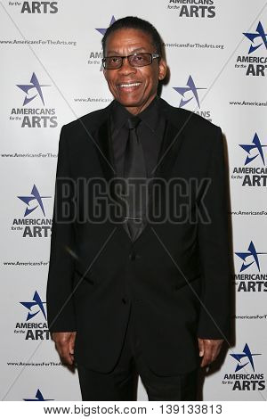 NEW YORK-OCT 19: Musician Herbie Hancock attends the 2015 National Arts Awards at Cipriani 42nd Street on October 19, 2015 in New York City.
