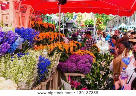 Columbia Road Flower Market In London, Uk