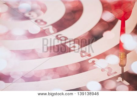 Arrows On Dart Board With Bokeh Background Mean The Goal And Success. Suitable For All Artwork Desig