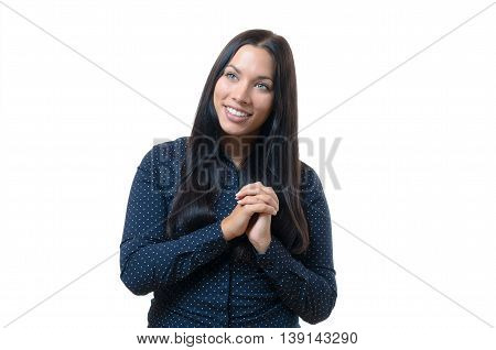 Excited Elated Young Woman