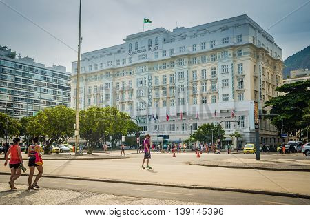 The Copacabana Palace Hotel Is The Most Famous And Luxurious Hotel In Rio De Janeiro, Brazil