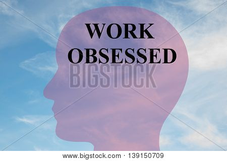 Work Obsessed Mental Concept