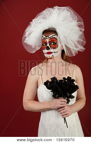 Bride With Black Roses