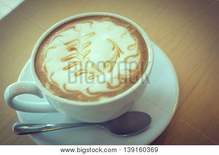 Hot Coffee Caramel Macchiato
