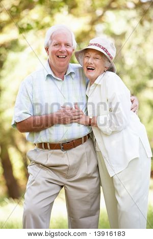 Senior Couple walking Park