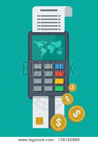 Payment Terminal With Card