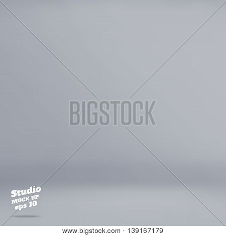 Vector :empty Pale Grey Studio Room Background ,template Mock Up For Display Of Product,business Bac