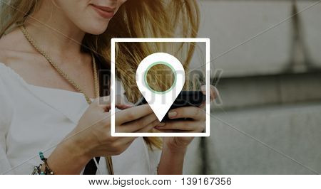 Location Global Positioning System Navigation Trip Concept