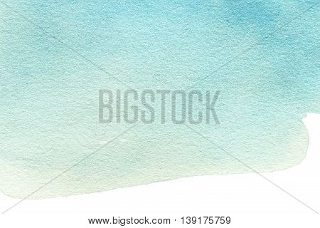 Abstract Watercolor background. Colorful blue water color art hand paint. Splash Watercolour texture