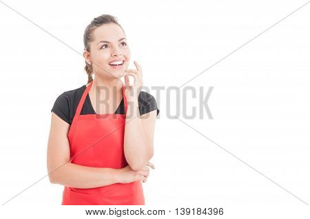 Beautiful Female Employee Having A Great Idea