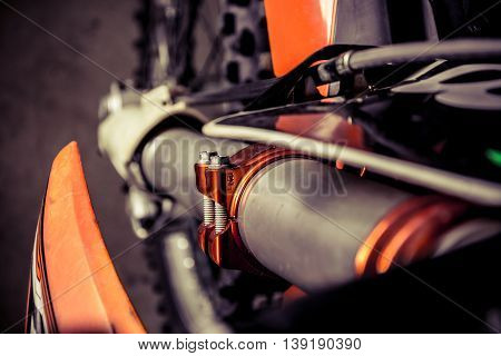 Part of motorcycle body, speed motor sport, motocross bike