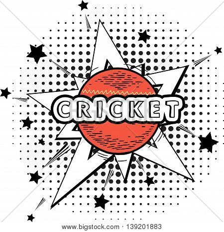 cricket ball isolated. cricket red ball in explosion for Cricket on stylish colorful background.