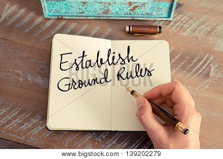 Handwritten Text Establish Ground Rules