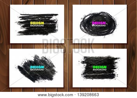 Hand Drawn Charcoal Chalk Texture Set