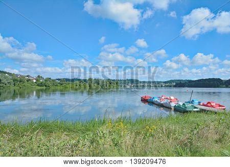 at Lake Wiesensee in Westerwald near Stahlhofen am Wiesensee,Rhineland-Palatinate,Germany
