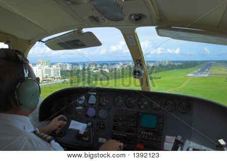 Pilot Is Getting Ready For Landing