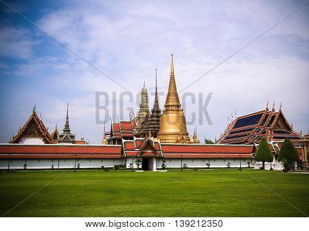 Grand palace and Wat phra keaw at bangkok, Thailand