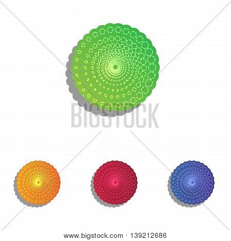 Abstract technology circles sign. Colorfull applique icons set.