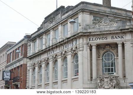 NORWICH NORFOLK October 2 2014: UK Lloyds Bank Norwich