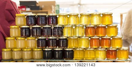 Different Jars Of Honey