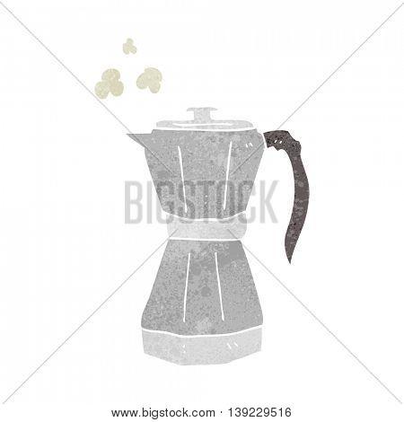freehand retro cartoon stovetop espresso maker