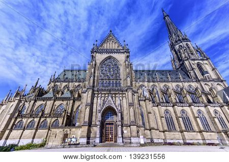 New Cathedral of the Immaculate Conception, Neuer Dom, by day in Linz, Austria