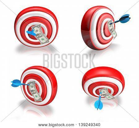 3D Cute Darts And Memo Range Four Set