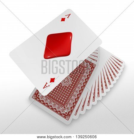 3D Pop Up Playing Card Suits As Diamond