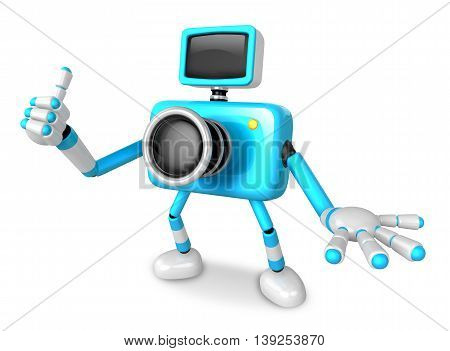 The Cyan Camera Character Taking The Right Hand Is The Best Gesture. Instructed To Gesture With The