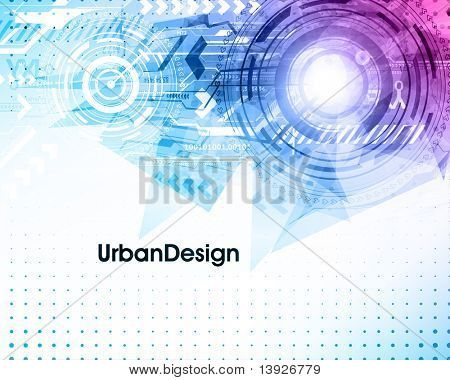 Abstract Techno Vector Background