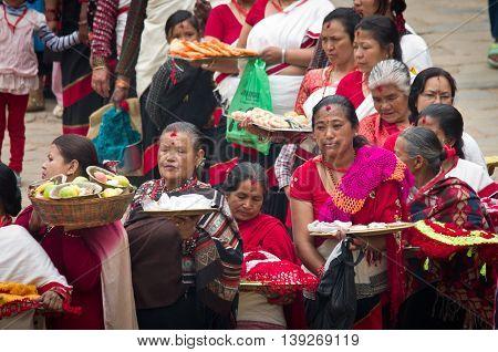 Street Festival In Bhaktapur,  Nepal.