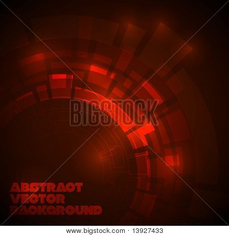 Abstract dark red technical background with place for your text