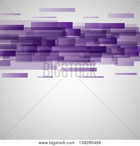 Abstract purple rectangles technology background, stock vector