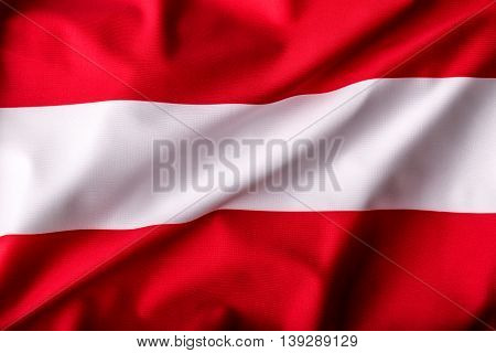 Austria flag waving in the wind. Eu Flags serie.