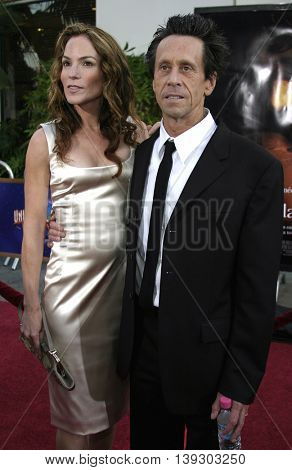 Brian Grazer and wife at the Los Angeles premiere of 'Cinderella Man' held at the Gibson Amphitheatre at Universal City in Hollywood, USA on May 23, 2005.
