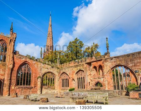Coventry Cathedral Ruins Hdr