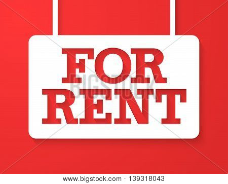 For Rent Creative Colorful Banner. Vector illustration.