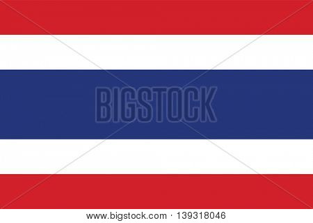 Vector Kingdom of Thailand flag
