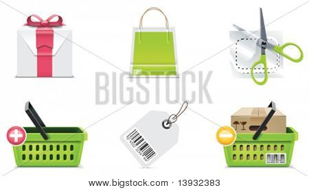 Vector shopping icon set and elements. Part 3