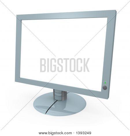 Computer-Monitor mit leeren Bildschirm