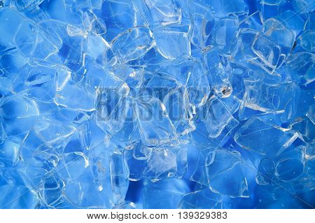Ice cubes for cold background, refresh concept