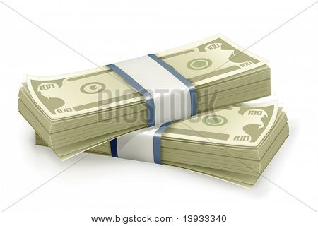 Stack of Dollars, vector