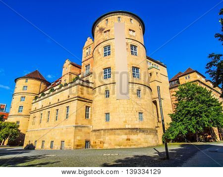 High dynamic range HDR Altes Schloss (Old Castle) in Stuttgart Germany poster