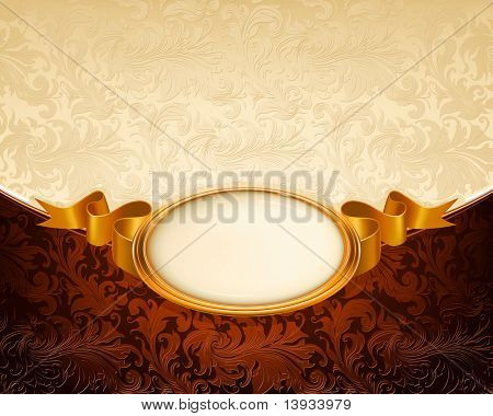 Vintage frame ornament, vector