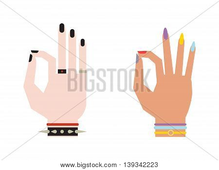 Okey hand success symbol, ok hand yes agreement