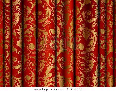 Luxury Curtain, vector background