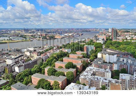 Germany. View of Hamburg from the Church of St. Michael