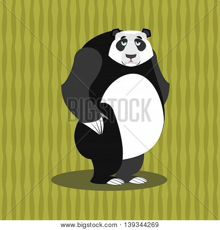 Sad Panda. Sorrowful Chinese Bear. Tragic Wild Animal.